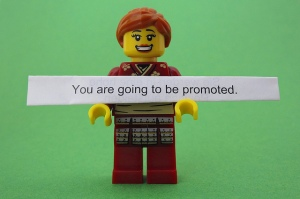 Shoot, in my mind, I was already promoted! It was just a matter of me getting there!