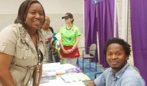 Me with Ishmael Baeh, author of a Long Way Gone and Radiance of Tomorrow.